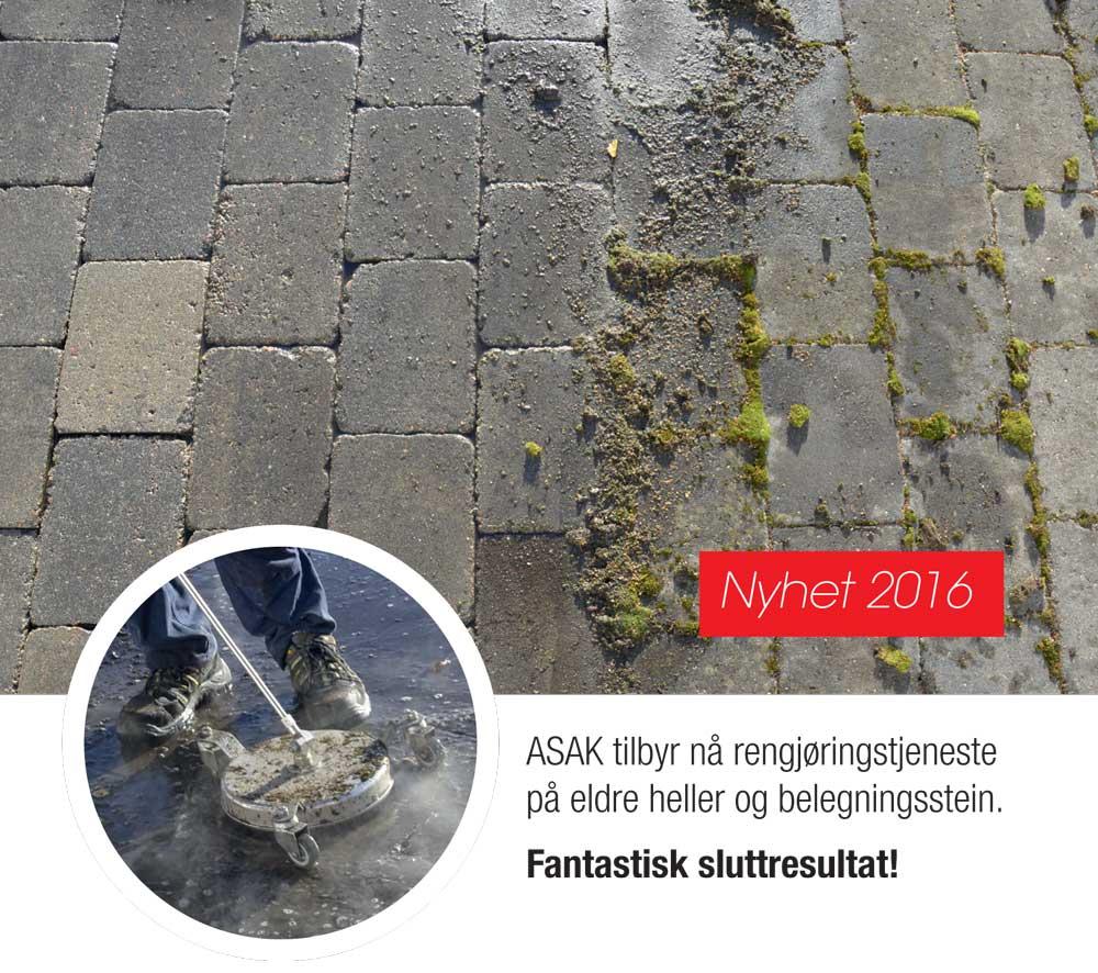 Fjerne grønske på betong
