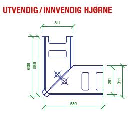 887c9fbbb Mini Grå - hjørne (med 2-delt hjørneblokk) | Asak Miljøstein